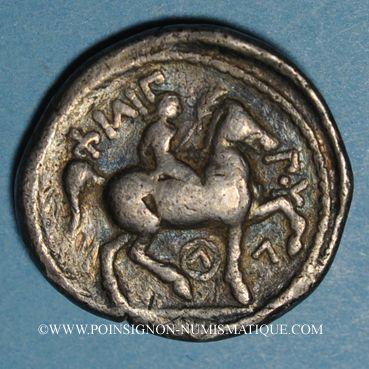Coins Roy. de Macédoine. Philippe II  (359-336 av. J-C). Tétradrachme posthume. Amphipolis, 323/22-316/15