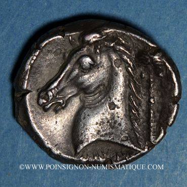 Coins Sicile. Entella. Monnayage siculo-punique, vers 300-289 av. J-C. Tétradrachme atelier des questeurs
