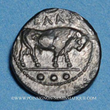 Coins Sicile. Géla. Tétras, vers 420-405 av. J-C