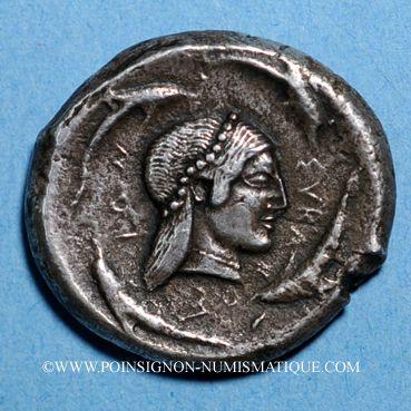 Coins Sicile. Syracuse. Tétradrachme, vers 480-475 av. J-C