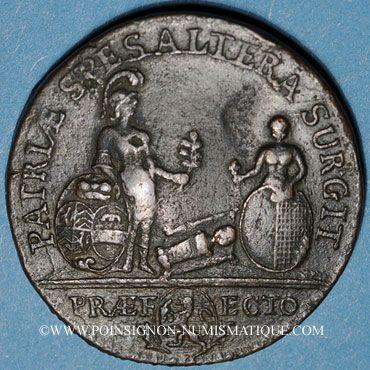 Coins Lorraine. Casimir Antoine Metz de Caumartin, intendant. Jeton cuivre 1754. Frappe postérieure