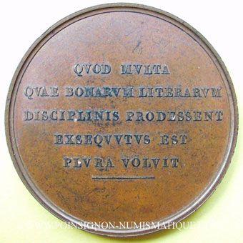 Coins Antoine-François-Henri Lefèbre de Vatimesnil (1789-1860). Médaille en bronze. 50 mm