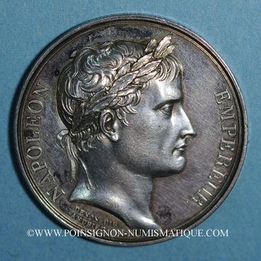 Coins Napoléon I. Couronnement de l'empereur, an XIII. Médaille argent. 40,8mm