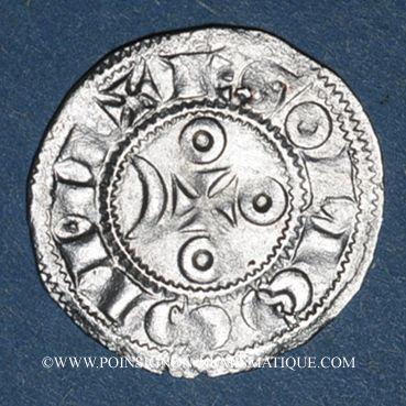 Coins Comté d'Angoulême. Monnayage anonyme au nom de Louis (12e - 13e siècle). Denier
