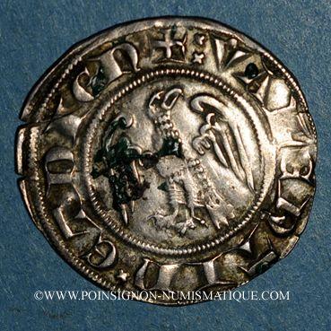 Coins Dauphiné. Evêché de Valence et Die. Jean de Genève (1285-1297). Gros