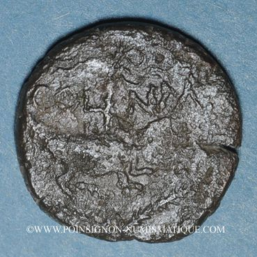 Coins Auguste et Agrippa. Dupondius. Nîmes, 16 - 10 avant J-C ; contremarqué DD