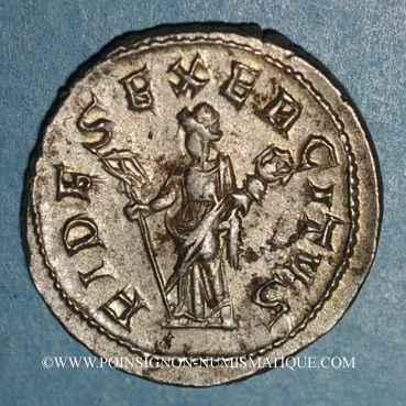 Coins Philippe I (244-249). Antoninien. Rome, 249. R/: la Fidélité