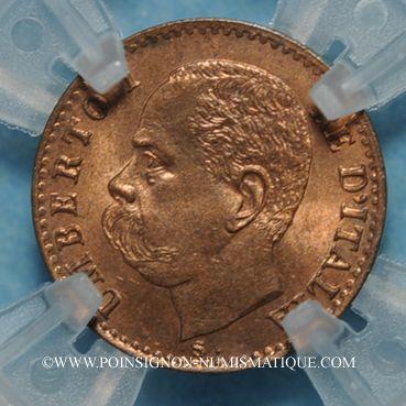Coins Italie. Umberto I (1878-1900). 1 centesimo 1895 R. Rome