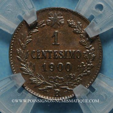 Coins Italie. Umberto I (1878-1900). 1 centesimo 1900 R. Rome