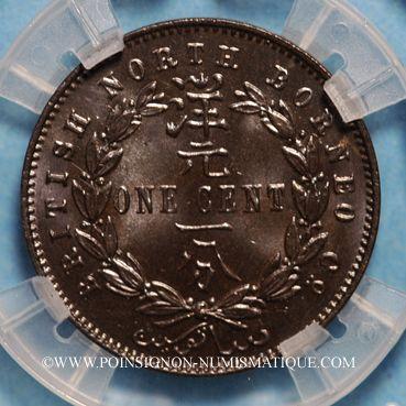 Coins Nord Bornéo. Protectorat Britannique. 1 cent 1891 H. Birmingham