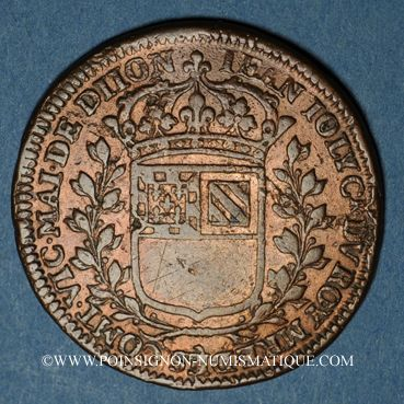 Coins Bourgogne. Mairie de Dijon. Jean Joly. Jeton cuivre 1667