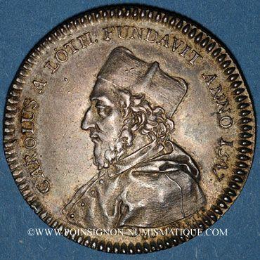 Coins Champagne. Université de Reims. Jeton argent 1756