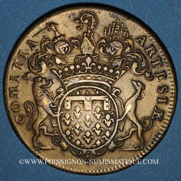 Coins Etats d'Artois. Louis XV. Jeton cuivre