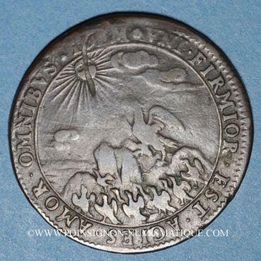 Coins Etats de Bourgogne. Jeton cuivre 1671