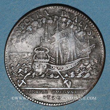 Coins Etats de Bourgogne. Jeton cuivre 1694