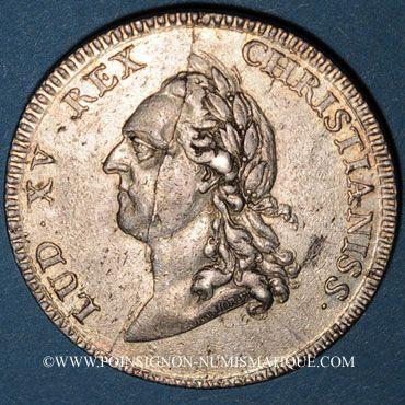 Coins Etats du Languedoc. Jeton argent 1770