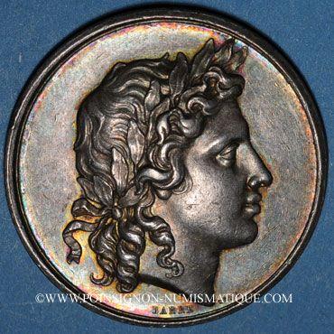 Coins Lyon. Académie. Jeton argent 1828. Poinçon : abeille