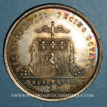 Coins Lyon, Conseil des Prud'hommes, jeton argent 1818. Sans poinçon