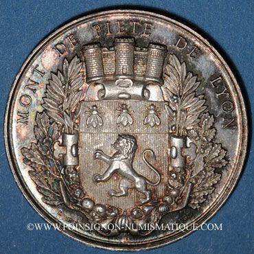 Coins Lyon. Mont de Piété. Jeton argent. Poinçon : abeille