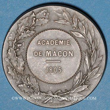 Coins Mâcon. Académie. Jeton maillechort