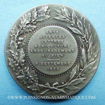 Coins Mâcon, Arts - Sciences - Lettres - Agriculture et Encouragement au bien, jeton maillechort