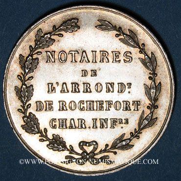 Coins Notaires. Rochefort. Jeton argent. Poinçon : abeille