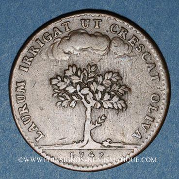 Coins Paris. Assemblée du Clergé de France. Jeton cuivre 1742