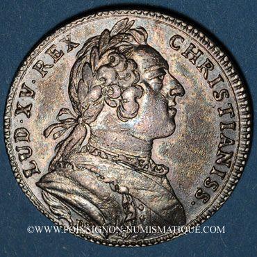 Coins Paris. Assemblée du Clergé de France. Louis XV. Jeton argent 1748