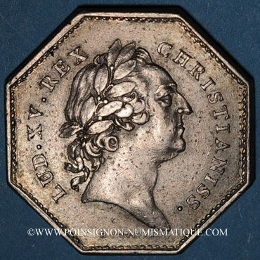 Coins Paris. Assemblée du Clergé de France. Louis XV. Jeton argent 1772