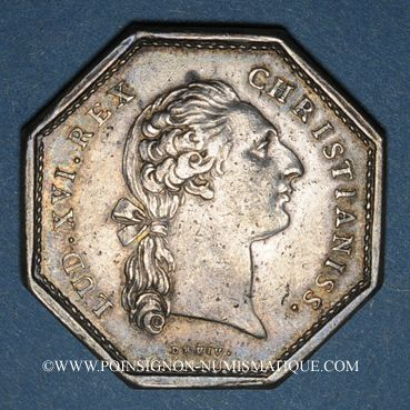 Coins Paris. Assemblée du Clergé de France. Louis XV. Jeton argent 1775