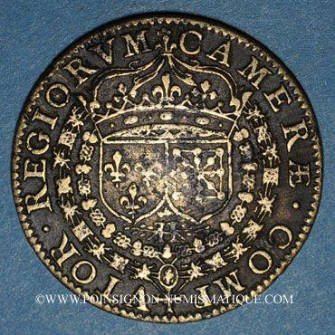 Coins Paris. Chambre des comptes du roi. Jeton cuivre 1605