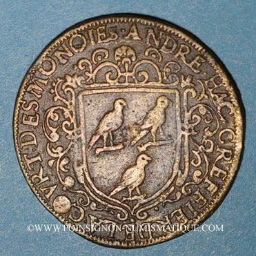 Coins Paris. Chambre des Monnaies. André Hac, Greffier de la Cour des Monnaies. Jeton