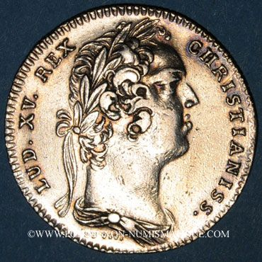 Coins Paris. Distillateurs. Louis XV. Jeton argent