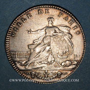 Coins Paris. J. B. Elie Camus de Pontcarre, seigneur de Viarme. Jeton argent 1763