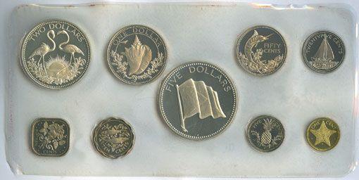 Coins Bahamas. Série Proof 1974