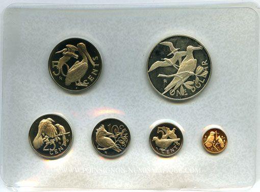 Coins Iles Vierges. Série Proof 1973