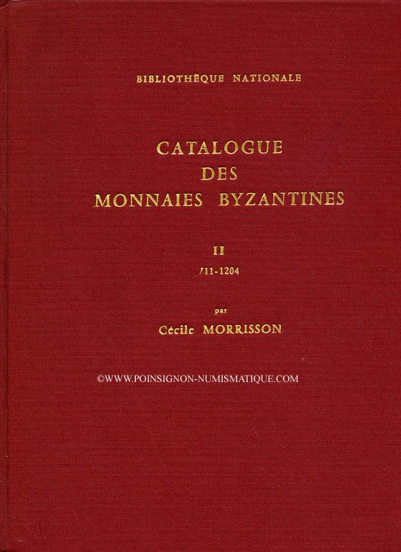 Second hand books Morrisson C. - Catalogue des monnaies byzantines. 2 volumes