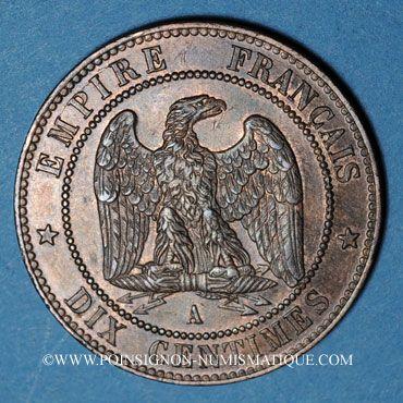 Stolen objects 2e empire (1852-1870). 10 cmes tête nue 1854A