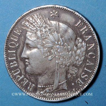 Stolen objects 2e république (1848-52), 5 francs 1851A, Cérès