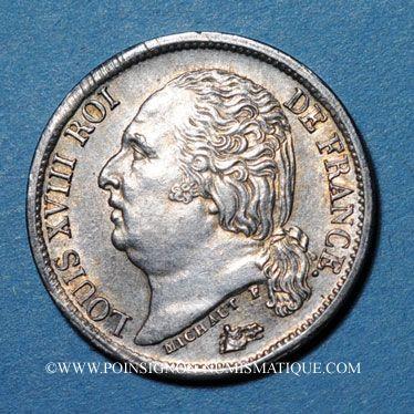 Stolen objects 2e restauration (1815-1824), 1/2 franc 1818A