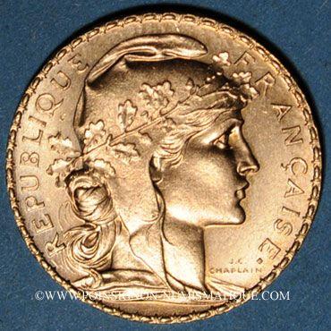 Stolen objects 3e république (1870-1940). 20 francs Marianne 1914. 900 /1000. 6,45 gr