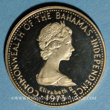 Stolen objects Bahamas. Elisabeth II. 100 dollars 1973. 585 /1000. 14,54 gr