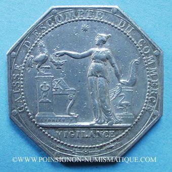Stolen objects Caisse d'Escompte du Commerce, jeton argent (1797)