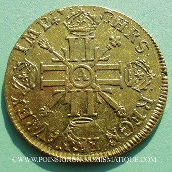 Stolen objects Louis XIV (1643-1715), double louis d'or aux 8L et aux insignes 1702A