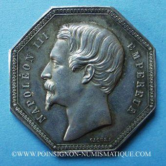 Stolen objects Paris, Agents de Change, jeton argent octogonal 1853. Poinçon : main indicatrice