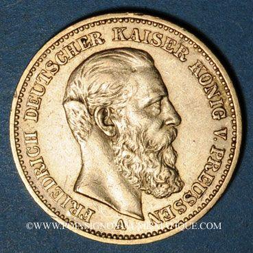 Stolen objects Prusse, Frédéric III (1888), 20 mark 1888A. 900 /1000. 7,96 gr