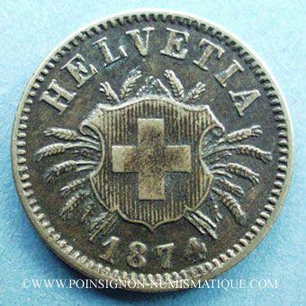 Stolen objects Suisse, 5 rappen 1874B