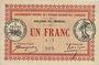 Banknotes Sénégal. Emissions de nécessité. Colonie du Sénégal. Billet. 1 franc 11.2.1917