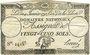 Banknotes Assignat. 25 sols. 4 janvier 1792. Signature : Hervé
