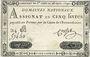 Banknotes Assignat. 5 livres. 28 septembre 1791. Signature : Corsel